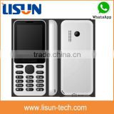 "alibaba cheapest China 2.4"" gsm quadband dual sim card mobile phone with bluetooth whatsapp rotating cameras"