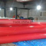 2015 Commercial 0.9mm pvc tarpaulin color double tubes best selling inflatable adult swimming pool