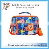 Camouflage Animal printed polyester kids children lunch bag for school with shoulder straps