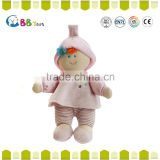 2015 china factory made good quanlity toy cute and novelty pink plush soft dolls toys for baby