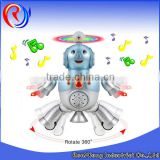 ali baba hot sell toy robot B/O robot toy with dancing music rotate