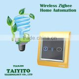 Brushed Metal Wireless Remote Bidirectional TAIYITO Zigbee Smart Touch Screen Fluorescent Lamp/Electrical Light Switch