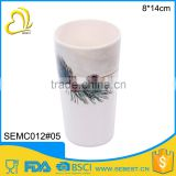 custom print round no handle plastic tumbler
