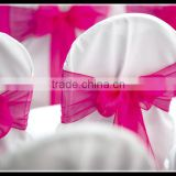 cheap price romantic wedding banquet chair use beauty organza chair sashes
