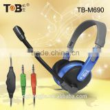 Custom designed headphone manufacturers adjustable fashion modeling headphone with detachable mic for computer