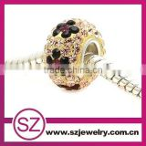 Wholesale light brown & amethyst flower pattern jewelry bead