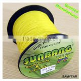 Zhejiang Outdoor Wholesale Fishing Tackle Japanese Spectra PE Fishing Braided Line 4 Strands 20lb 1000m Fluo