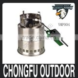 2016 new sport and outdoors stainless steel cooking mini backpck tactical camping gear wood-burning stoves for camping survival
