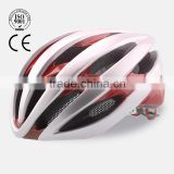 Unique design safety eps integrally molded led light bicycle helmet