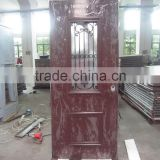 Italy design front door, steel security door with multi lock, Brown powder coated. exterior door. Made in China
