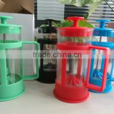 PP Frame Borosilicate glass french press plunger/Coffee maker