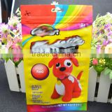 high quality gravure colorful printing zipper PET+AL+PE lamination plastic doll packing bag
