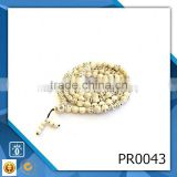 Lords prayer and cross stainless steel necklace natural stone stretch bracelets yellow prayer beads                                                                                                         Supplier's Choice