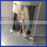 China Factory hot sale 8x10 clear acrylic frames / Acrylic maganetic photo frame