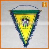 Promotion 100% Polyester Custom logo Advertising pennant Banners with tassel