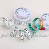 150cm/60inch professional bmi round shape calculator body measuring tape promotional medical gift with High Quality