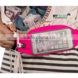 Wholesale Running Belt Runner Waist Pack Running Belt Waist pack with Transparent Touch Screen