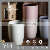 Wheat straw Eco-friendly pp plastic drinking coffee water juice cup                                                                         Quality Choice