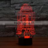 Warship 3D illusion Led Night Light Projection Baby Bedside Table Desk Lamp USB LED Electronic Gadget Decorative Lighting