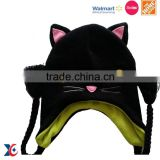 Hairwake Sedex Factory Wholesale funny kids fleece free knitting patterns animal hats, earflap hat