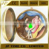 ANTIQUE ENAMEL CONCEALED SCENE GILT CASE VERGE FUSEE antique japan quartz vintage erotic pocket watch