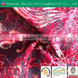 100% Polyester print and flocked upholstery fabric manufacture ZJ015-2