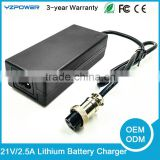 21V 2.5A 5-Cell Lithium Standard Battery Use and Electric Type 18v motorcycle battery charger