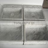 High-end bianco carrara custom made kitchen sinks
