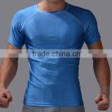 100% breathable blue blank men's sport t-shirt fashion men's sports wear