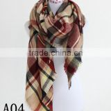 Lady Blanket black red Plaid Cozy Checked Oversized Plaid Scarf Wraps Shawl