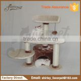 New Style cat tree parts , china made banana leaf cat tree