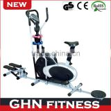 stepper and twister function elliptical air bike