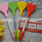 china wholesale plastic oil pen with banners in heart shape