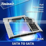 small remote control case SATA to SATA 2nd HDD HD HARD DRIVE Caddy for macbook CD/DVD-ROM Bay caddy with screwdriver