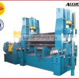 3 roller, 4 roller Hydraulic Metal Forming Rolling Machine, sheet metal roller, pipe rolling machine with Siemens motor