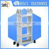 Manufacture wholesale multi-purpose aluminum ladder, combination step ladder, folding step ladder
