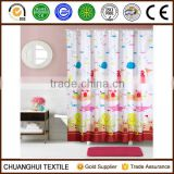 100% polyester cartoon shower curtain for children