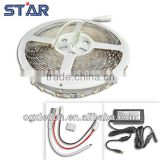 10meters Blister pack Flexible LED Strip 3528 DC12V 60led/m 4.8w/m Warm White+connectors+power supply