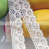 white Small round flower lace cotton for sofa cushion and lace ribbon 250101