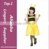 Cute Bee Costume Girls Hallowean Party Cosplay Costumes Discounted Childrens' Day Fancy Baby Kids Dance Costumes For 100~130cm