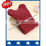wool/acrylic fashion colorful winter beanie hat with cute panda ear for girl from USA china supplier alibaba
