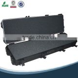 Plastic hard gun case with foam