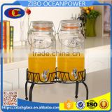 Ice Cold Drink Glass Dispenser Set S/2