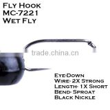 High carbon steel Tying wet fly tying fishing hooks