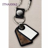 Custom 316 / 304 Stainless Steel Pendant Rose Gold / Black Plating