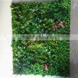Home and outdoor decoration synthetic cheap 1m x 1m artificial vertical green grass wall E08 04C00