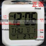 Home Fancy Decorative Cutomized LED Lihgting Alarm Clock