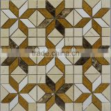 MM-CV304 Best sell bathroom natural stone beige marble flower pattern flooring mosaic tile