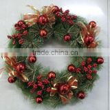 2015 fashionable and classic Christmas wreath with good quality and competitive