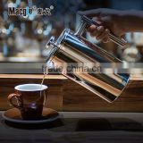 Stainless steel French press coffee&tea plunger top quality Espresso and Tea Maker Includes 6 Filters